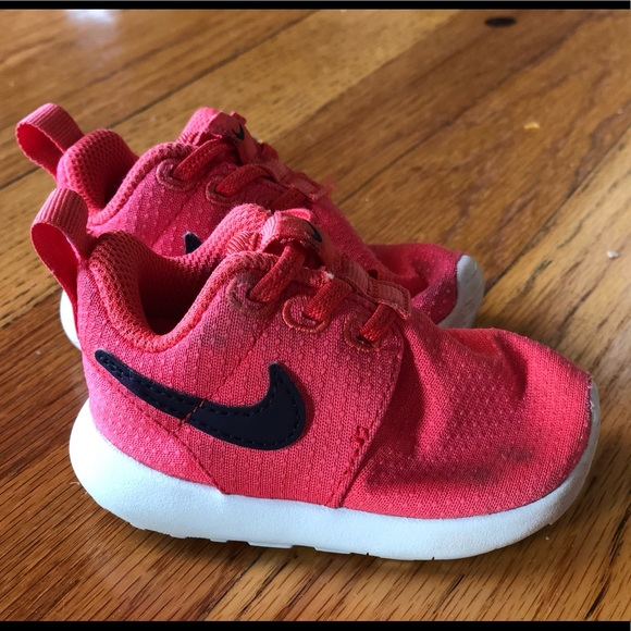 Nike Shoes | Baby Coral Nikes Size 3